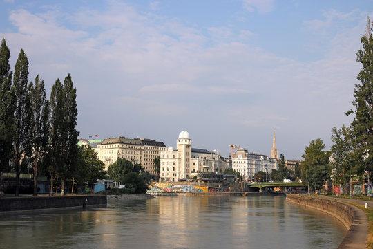 The Danube Canal in Vienna Austria