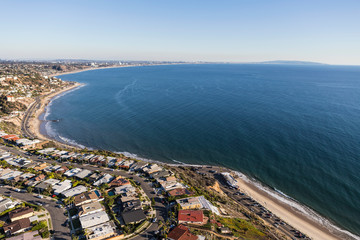 Pacific Palisades ocean view homes overlooking Santa Monica Bay in Los Angeles, California.