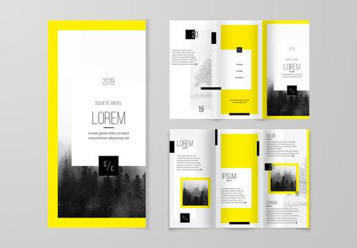 Template de brochure à troisvolets audacieuse et vive