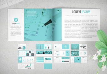 Horizontal Business Proposal with Light Blue Accents