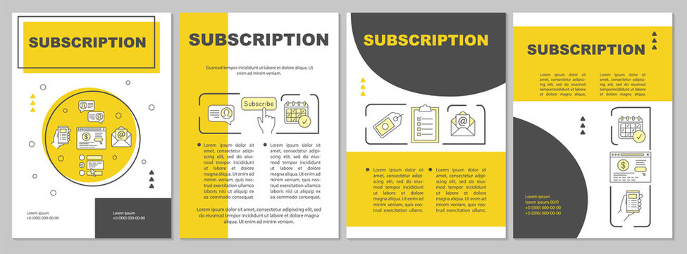 Subscription brochure template layout
