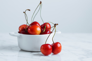 Juicy red cherry