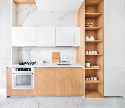 Minimalist interior design of kitchen