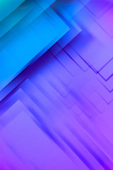 Neon geometric shapes. Abstract photo.