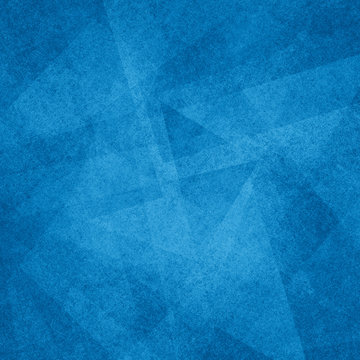 Blue and black abstract background with angled blocks, squares, diamonds, rectangle and triangle shapes layered in abstract modern art style background patter, textured background