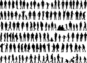 Fototapeta Large collection of silhouettes concept. obraz