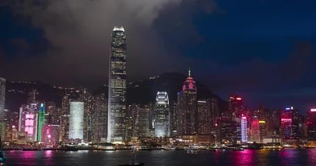 Wall Mural - Hong Kong at night