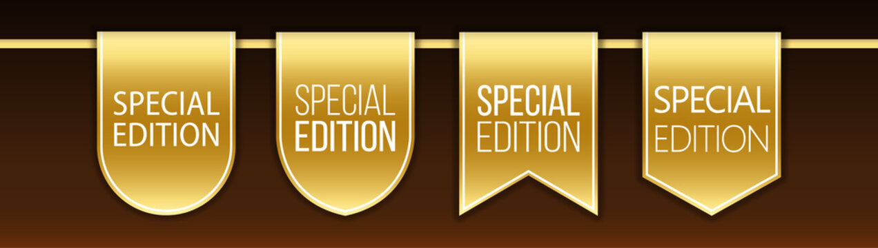 special edition tag ribbon and banner vector