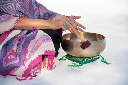 Hands of a sound healer.