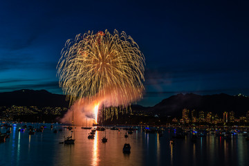 Celebration of Light team India perform fireworks in Vancouver July 27 2019.