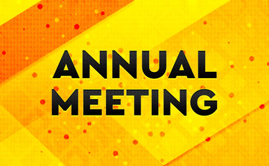Annual Meeting abstract digital banner yellow background