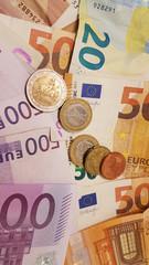 euro money background 500 200 100 10 20