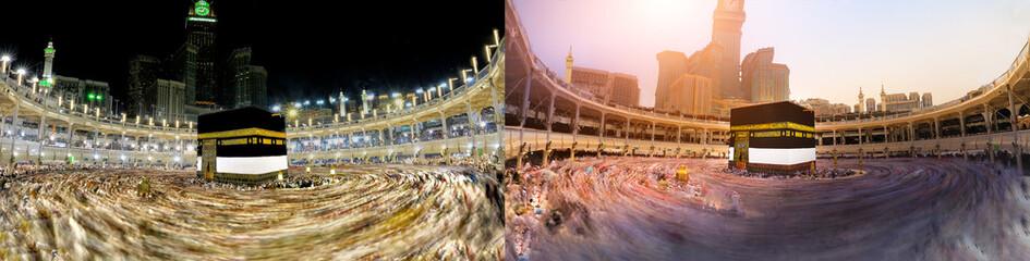 MECCA, SAUDI ARABIA, September 2018 ;Muslims pilgrims from all around the world circumambulate (tawaf)