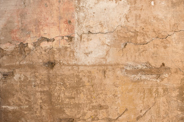Wall Murals Old dirty textured wall The cracked stucco texture