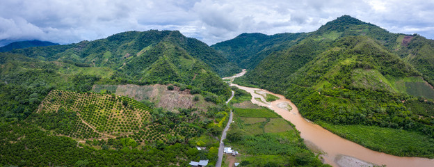 Landscape in the Peruvian rainforest