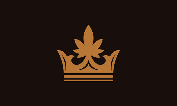 crown and cannabis logo design inspirations
