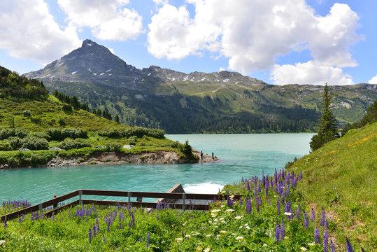 Uferweg Kops Stausee in Montafon-Vorarlberg