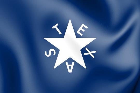 3D The Zavala Flag (Texas), USA