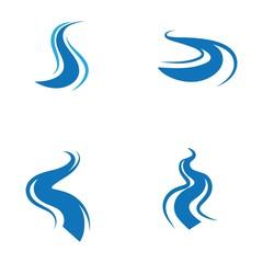 Fototapeta river icon vector illustration design obraz