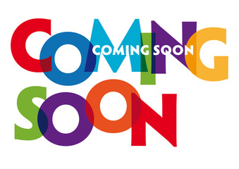 COMING SOON - vector of stylized colorful font