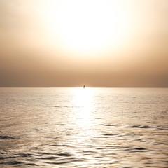 Couché de soleil sur mer Adriatique
