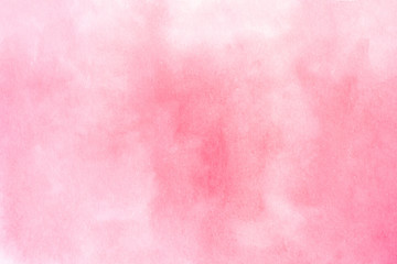 Abstract hand drawn watercolor pink background.