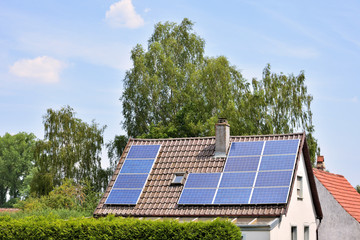 Solaranlage auf Wohnhaus