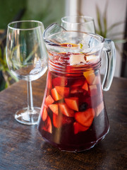 typical spanish sangria drink