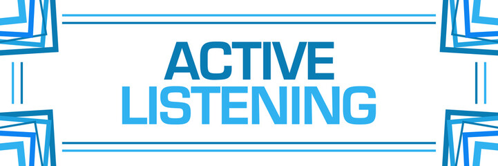 Active Listening Blue Random Borders Horizontal