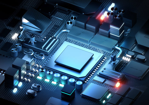 Microprocessor And CPU Technology Concept