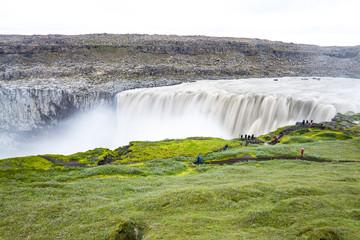 Dettifoss, a Majestic waterfall in Vatnajökull National Park in Northeast Iceland