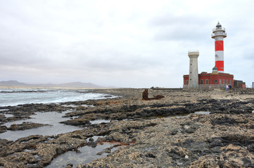 El Toston Lighthouse on the West Coast of Fuerteventura, Canary Islands