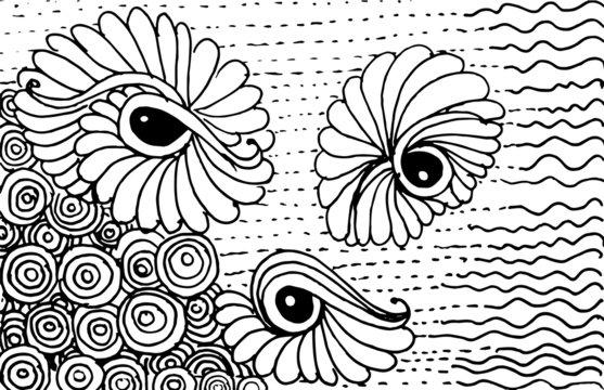 Abstract vector zentangle illustration
