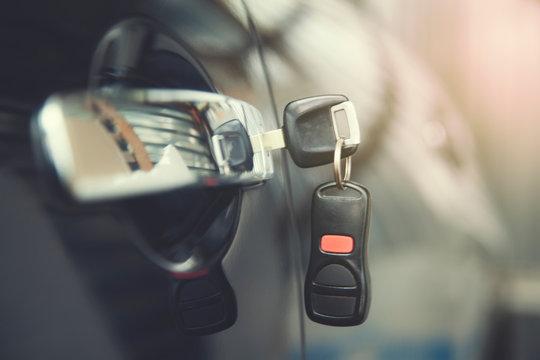 key on car door