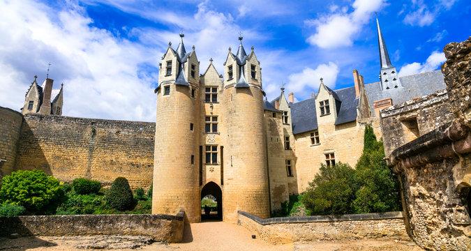 Medieval castles of Loire valley - impressive Montreuil-Bellay. landmarks of France