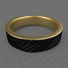 Twisted mens wedding ring