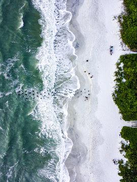 Naples Florida Aerial Old Pier