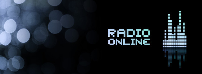 Radio online background Wall mural
