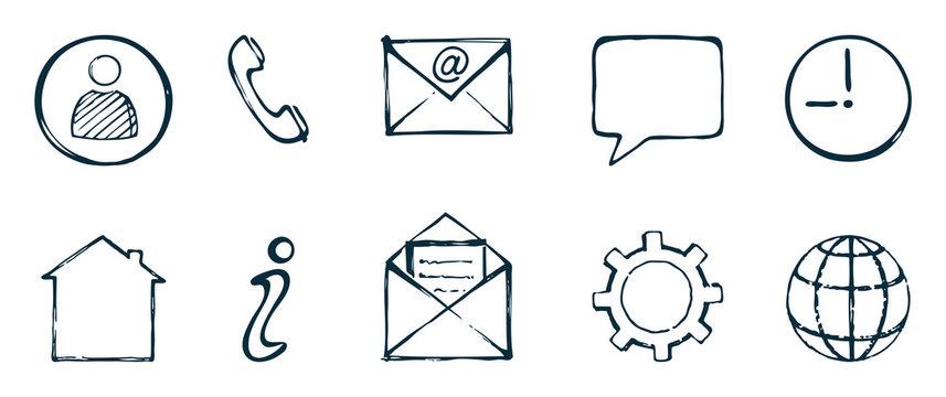 Communication icons set.