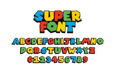 Super font Vector of modern abstract  alphabet