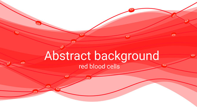 Abstract background with red blood cells. Medical illustration blood abstract