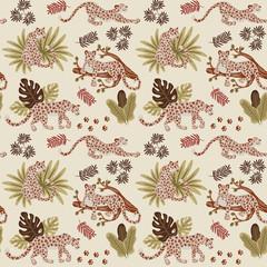 Leopard pattern flat color design