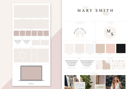 Design Branding Board Layout