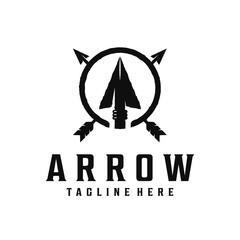 Spear, arrow / arrowhead vintage logo