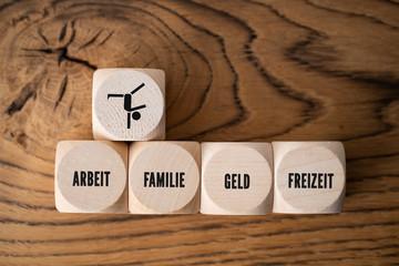Balance zwischen Arbeit, Familie, Geld und Freizeit finden