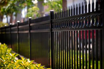 Black Aluminum Fence With Decorative Elements