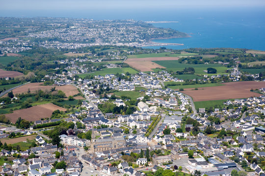 Aerial view of IPordic in Brittany, France