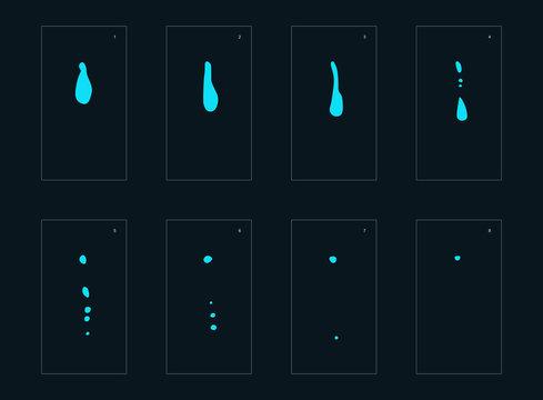 water drop game sprites