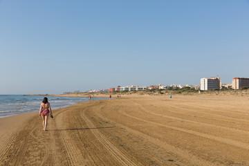 Costa Blanca beach walk from Guardamar del Segura to Torre la Mata