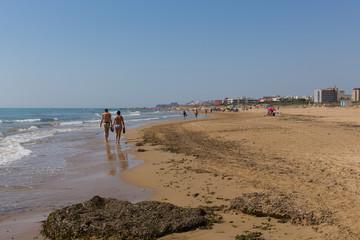 Beach walk from Guardamar del Segura to Torre la Mata Costa Blanca